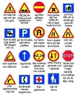 إشارات المرور في السويد