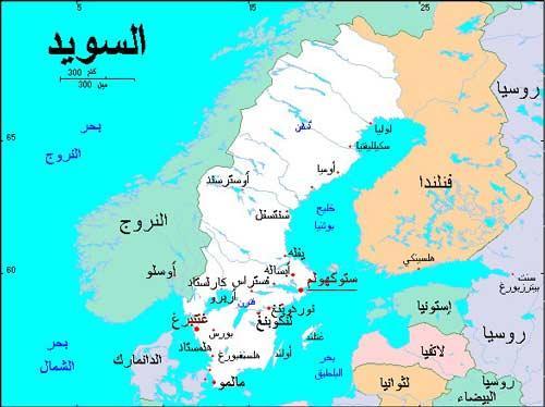 مساحة السويد